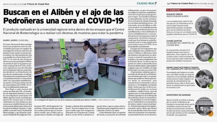 Articulo en La Tribuna CSIC COVID19