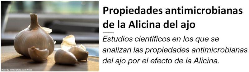 Propiedades antimicrobianas de las Alicina